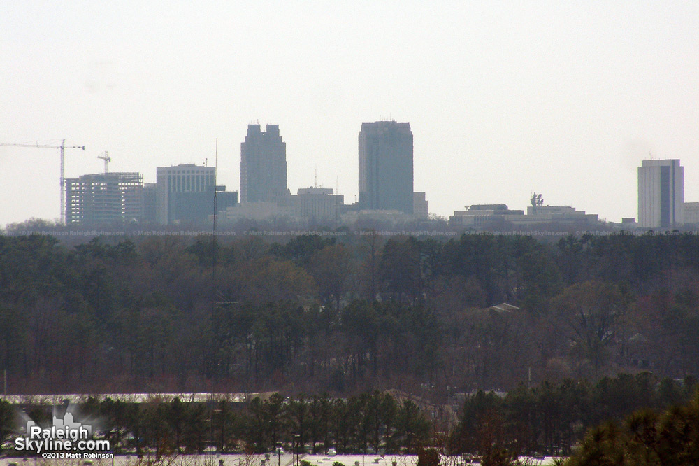 Skyline from Raleigh Community Hospital