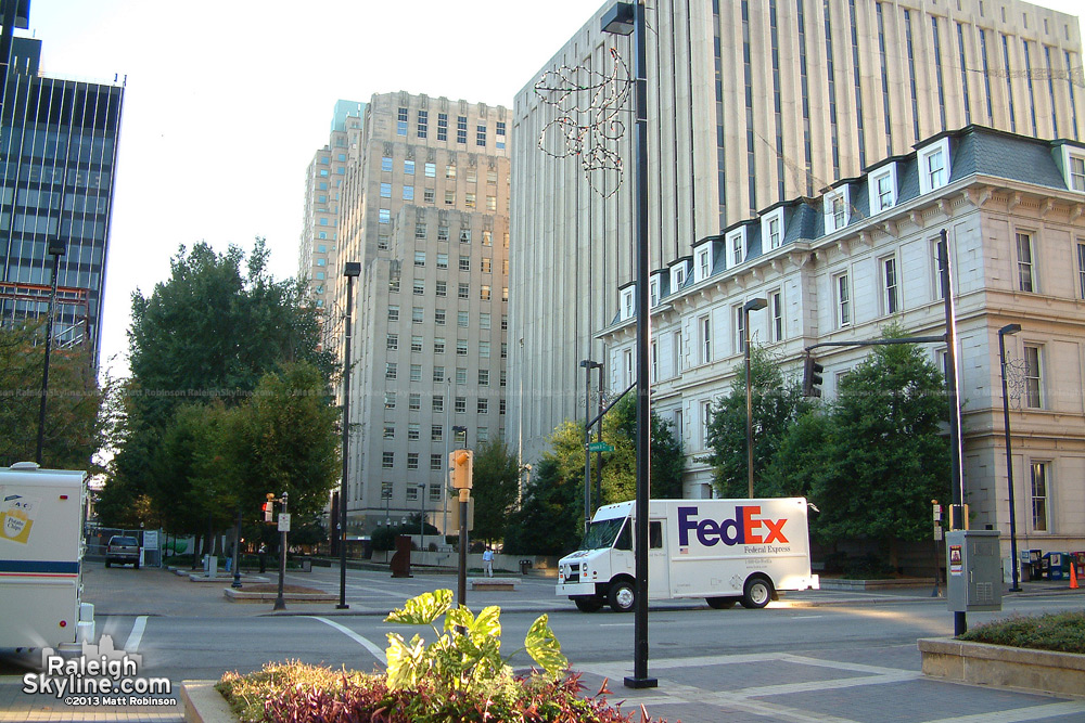 Post office and Fayetteville Street Mall