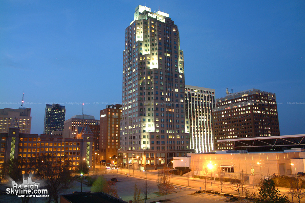 Downtown with the Civic Center