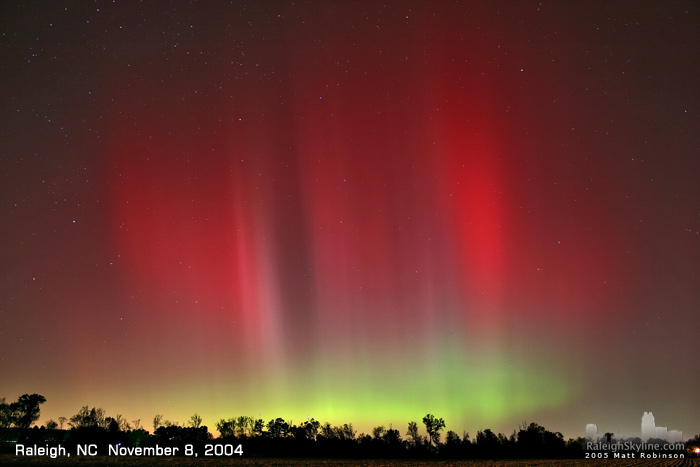 Aurora Borealis in Raleigh, NC - November 8, 2004