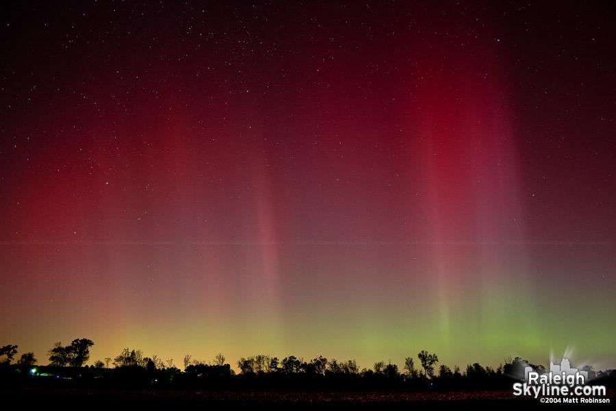 Aurora over Raleigh, 2004