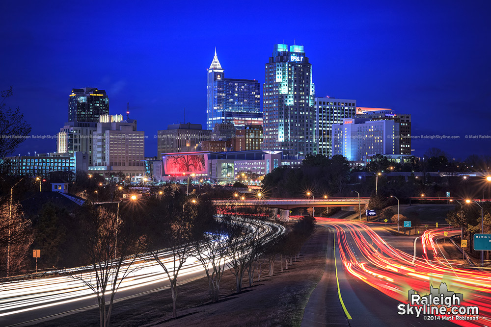 Downtown Raleigh Skyline as of 2014