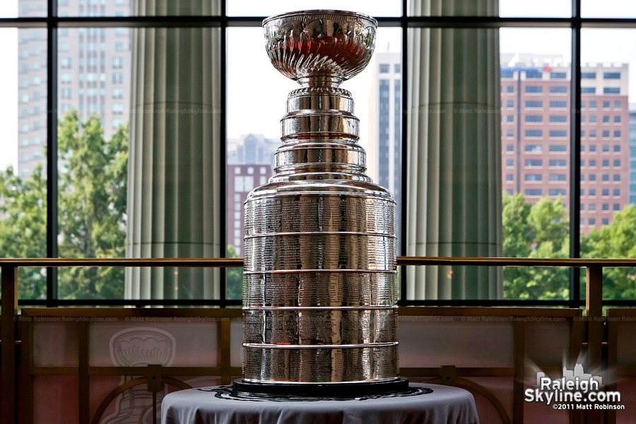 The Stanley Cup in Raleigh, NC