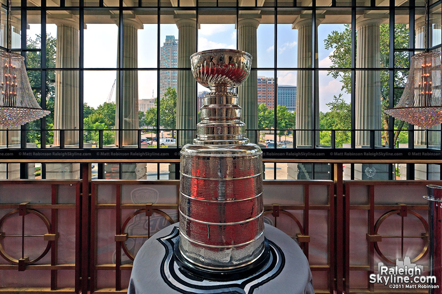 The Stanley Cup in Downtown Raleigh