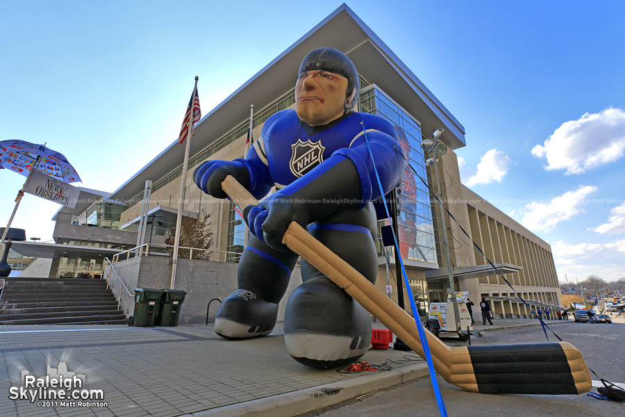 Giant inflatable NHL man