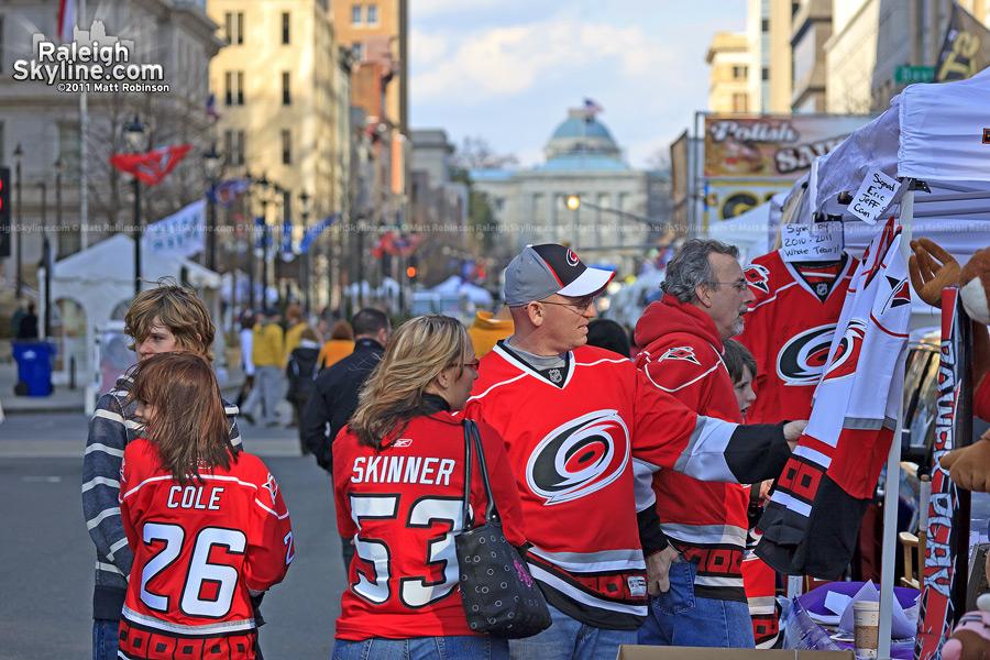 Canes fans on Fayetteville Street
