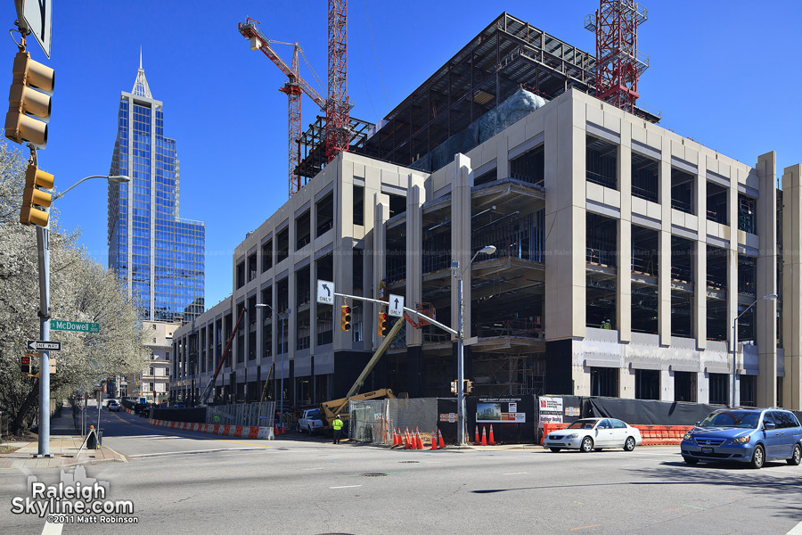 Construction progress on the Wake County Justice Center