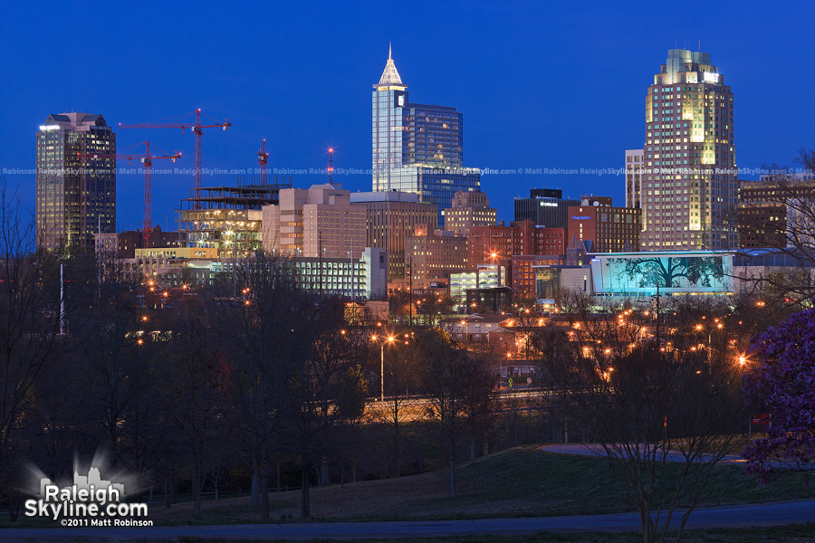 Magic Hour Raleigh Skyline from Dorothea Dix
