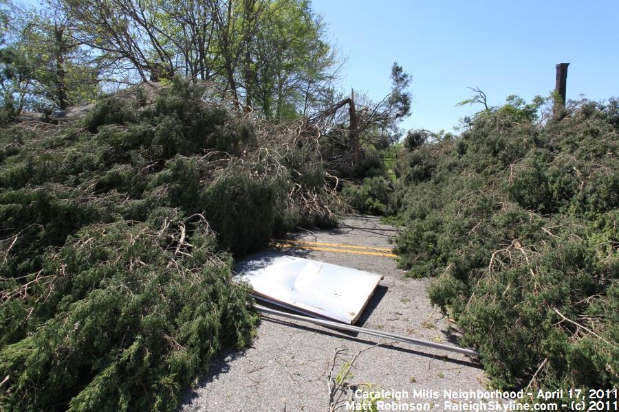 Tornado Damage in Caraleigh Mills