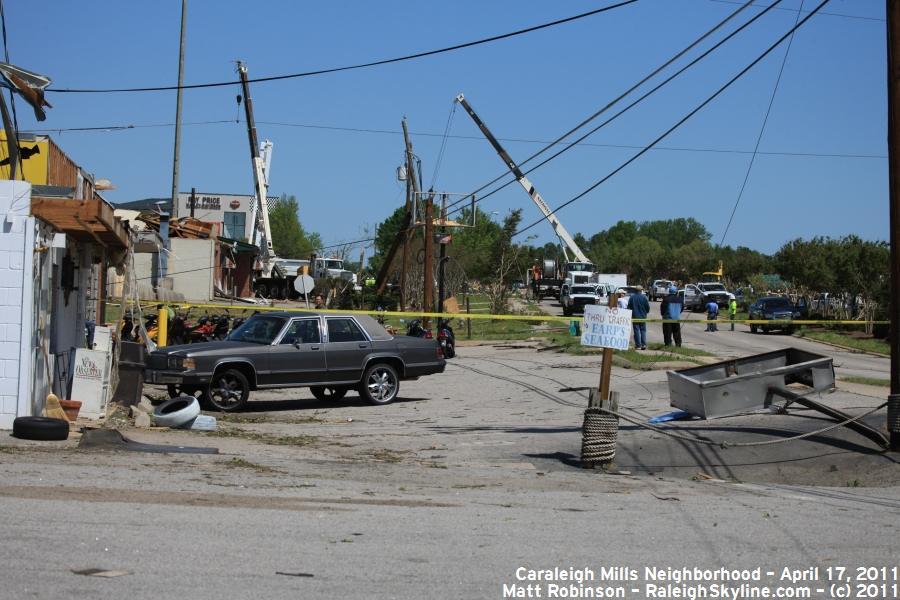 South Saunders street damage