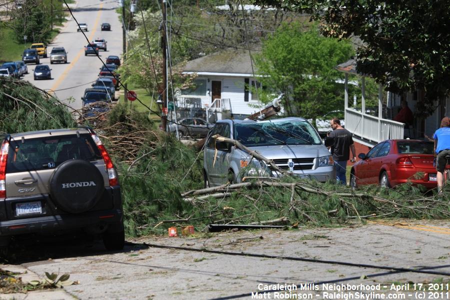 Maywood Ave damage