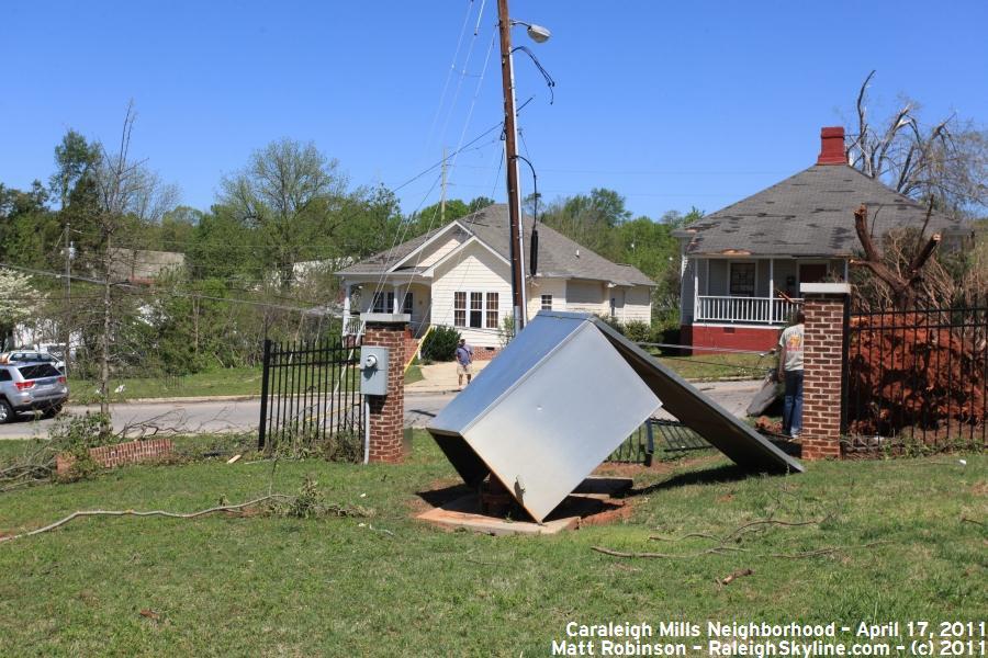 Overturned housing