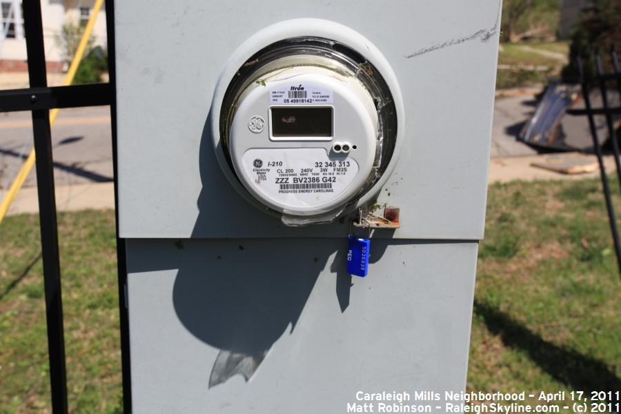 Broken utility meter