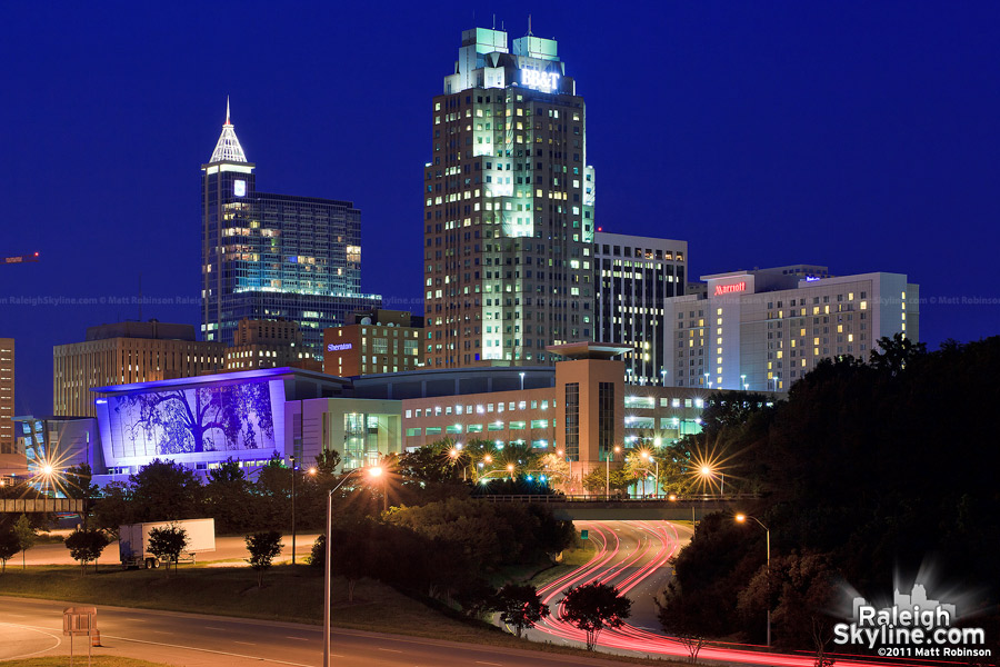 Downtown Raleigh at night