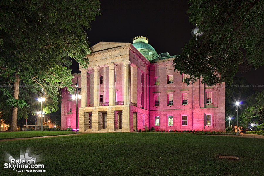 North Carolina State Capitol goes pink for the Race for the Cure