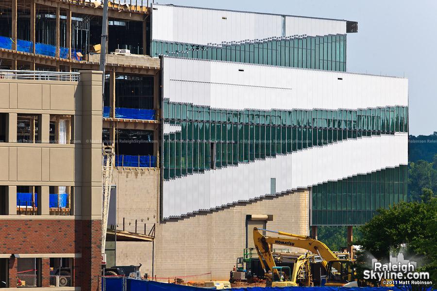Construction progress on James B. Hunt, Jr. Library on North Carolina State University's Centennial Campus