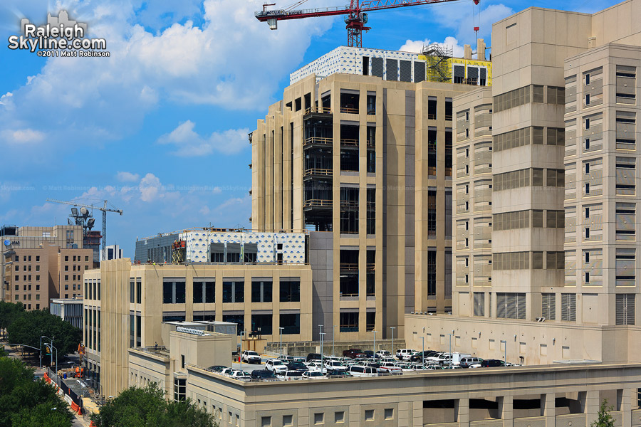 Wake County Justice Center nearing external completion