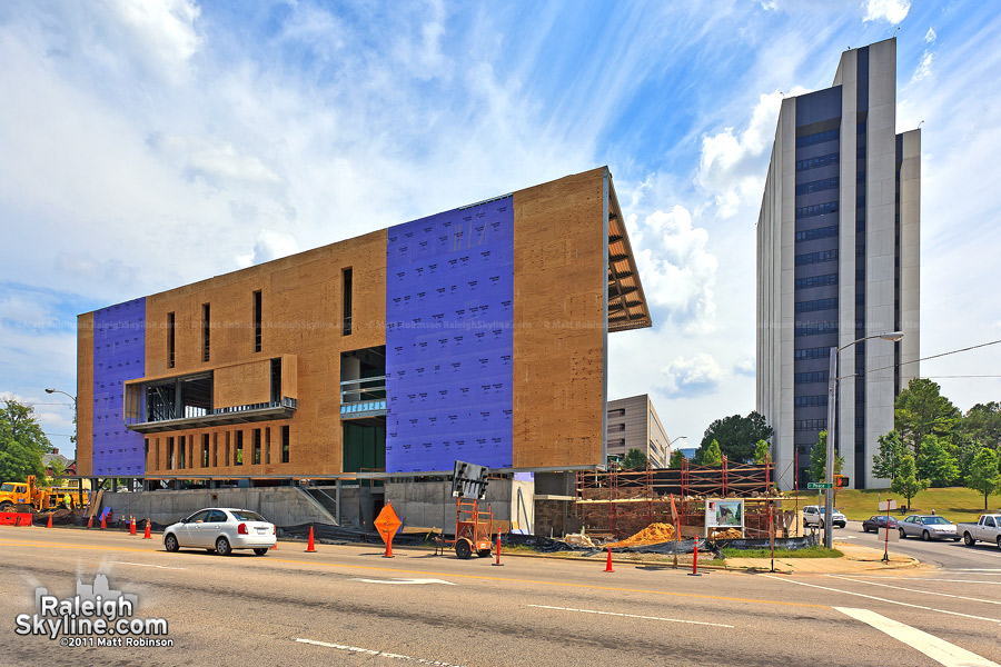 Construction of the AIA NC Headquarters with the Archdale Building