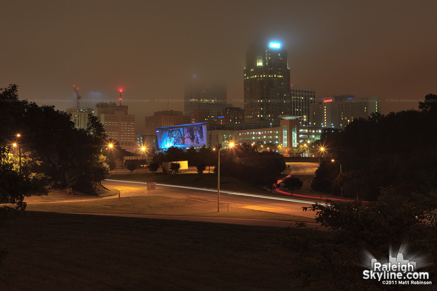 Raleigh Skyline in the clouds