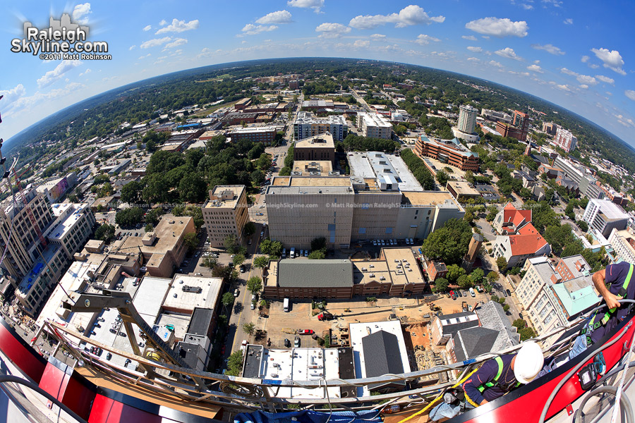 View of Raleigh looking west from the stage platform 380 feet off the ground