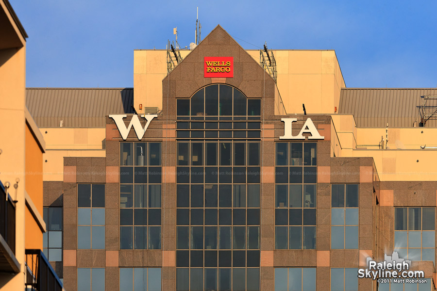 Remnant letters from the Wachovia sign