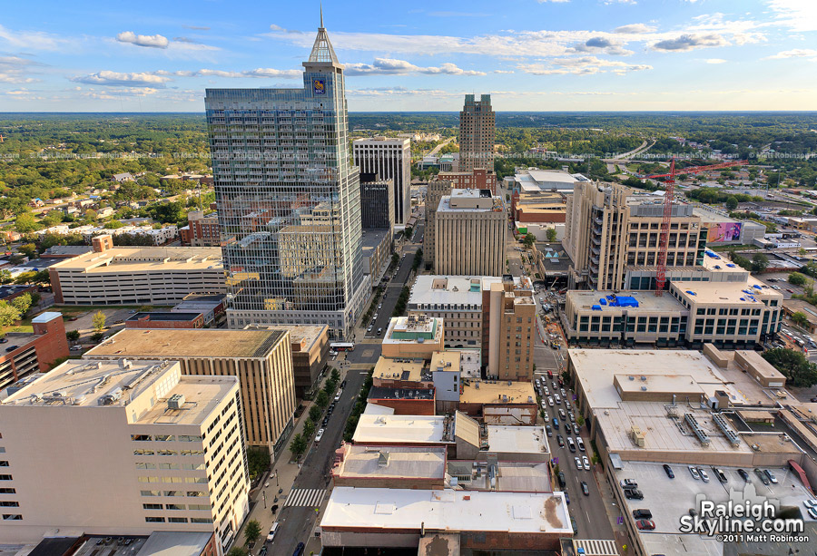 View of Downtown Raleigh from Wachovia Capitol Center rooftop