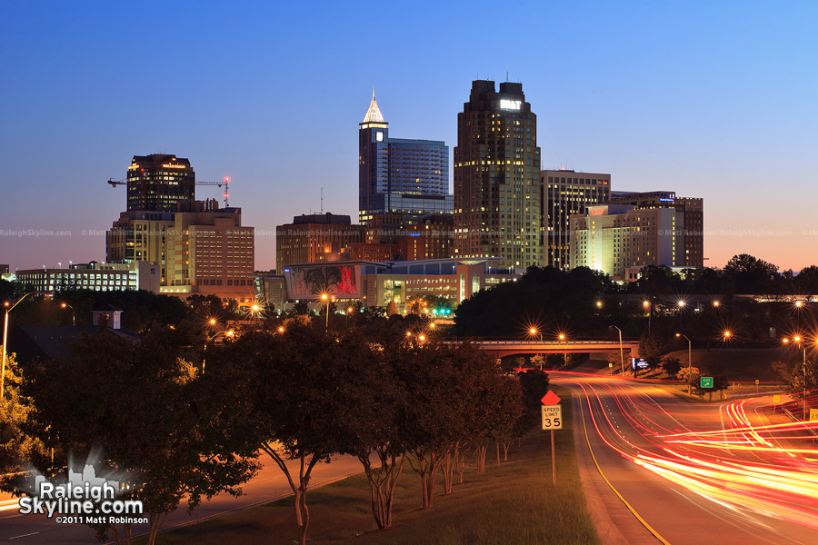 Downtown Raleigh Skyline at sunrise
