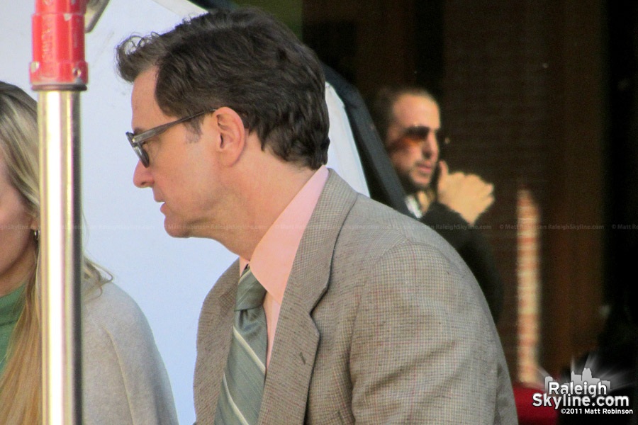 Colin Firth in Downtown Raleigh