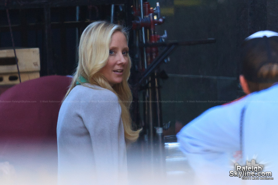 Anne Heche filming in Raleigh, North Carolina