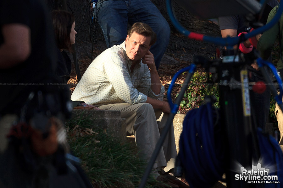 Colin Firth in Raleigh, North Carolina for Arthur Newman, Golf Pro