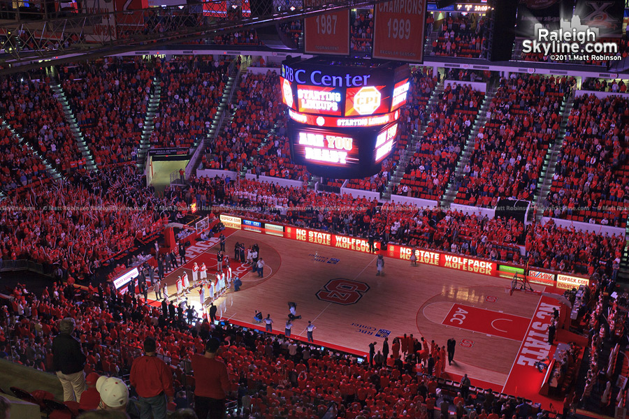 NCSU Men's Basketball introduction at the RBC Center