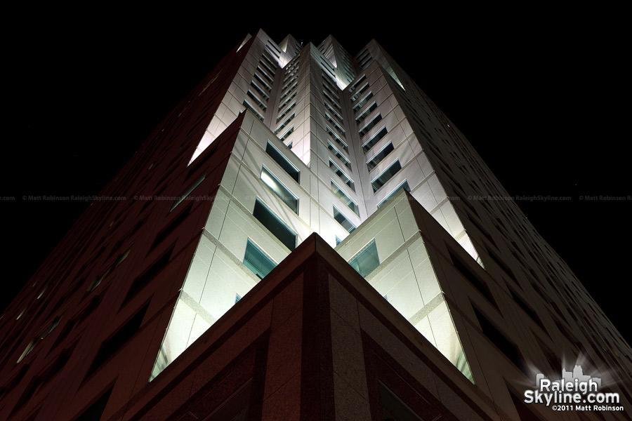 BB&T Building lighting at night
