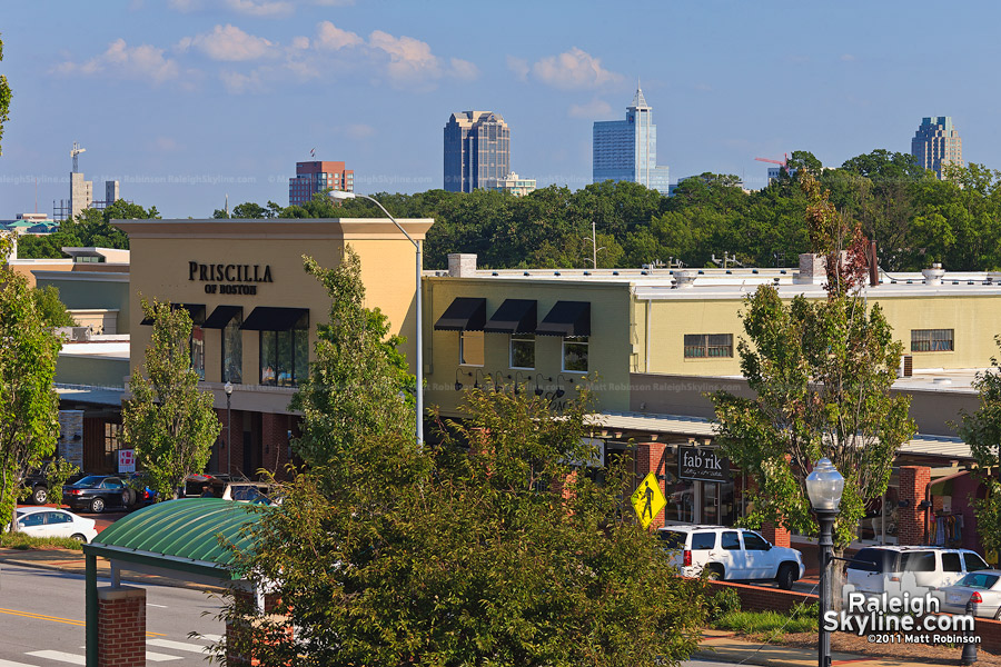 Raleigh Skyline from Cameron Village
