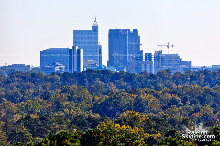Raleigh Skyline from the CAPTRUST Tower at North Hills