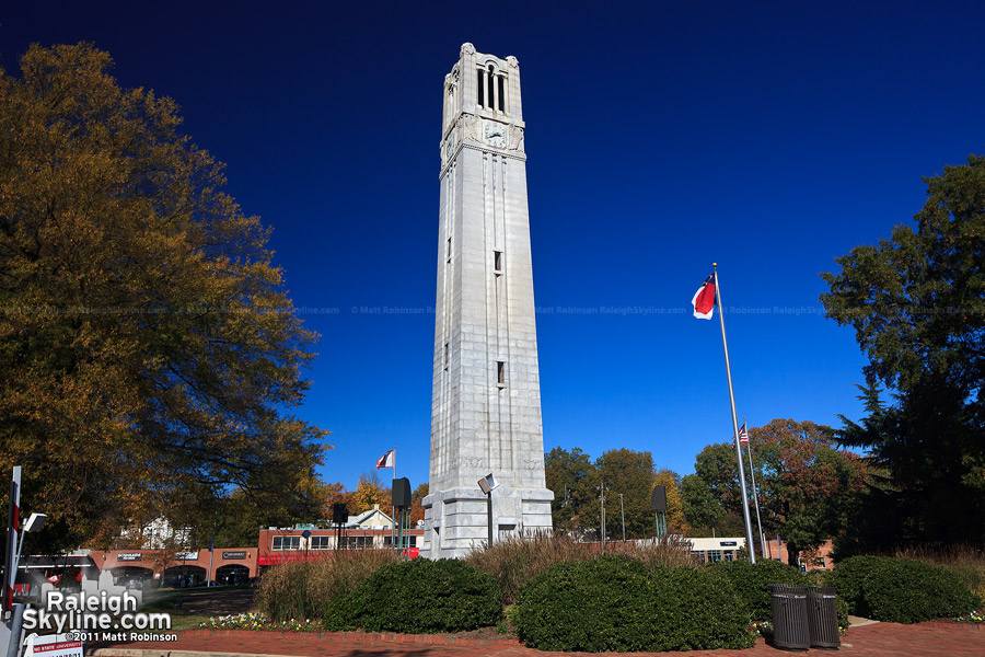 Blue skies over the NCSU Bell tower