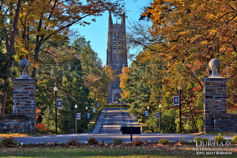 Duke Chapel during the fall season