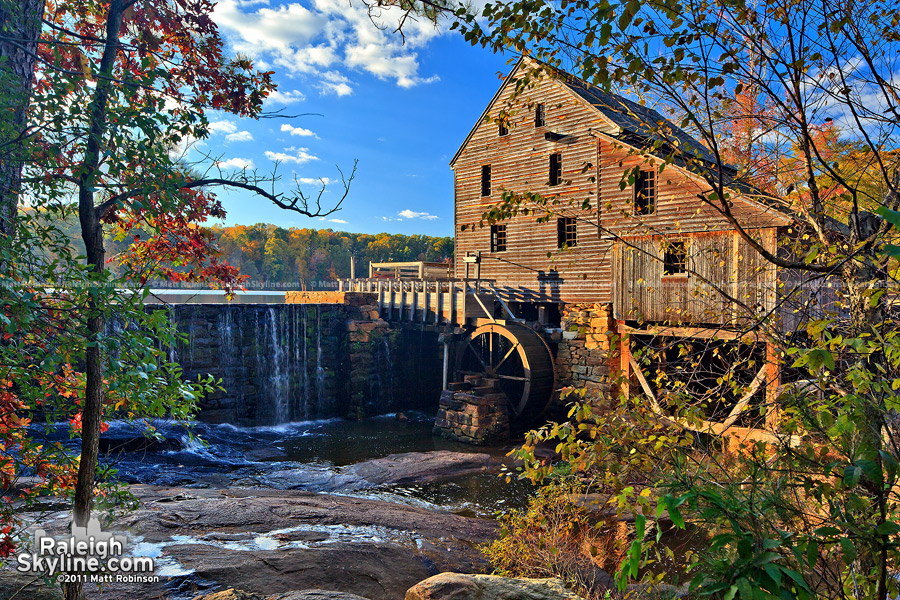 Yates Mill with fall colors
