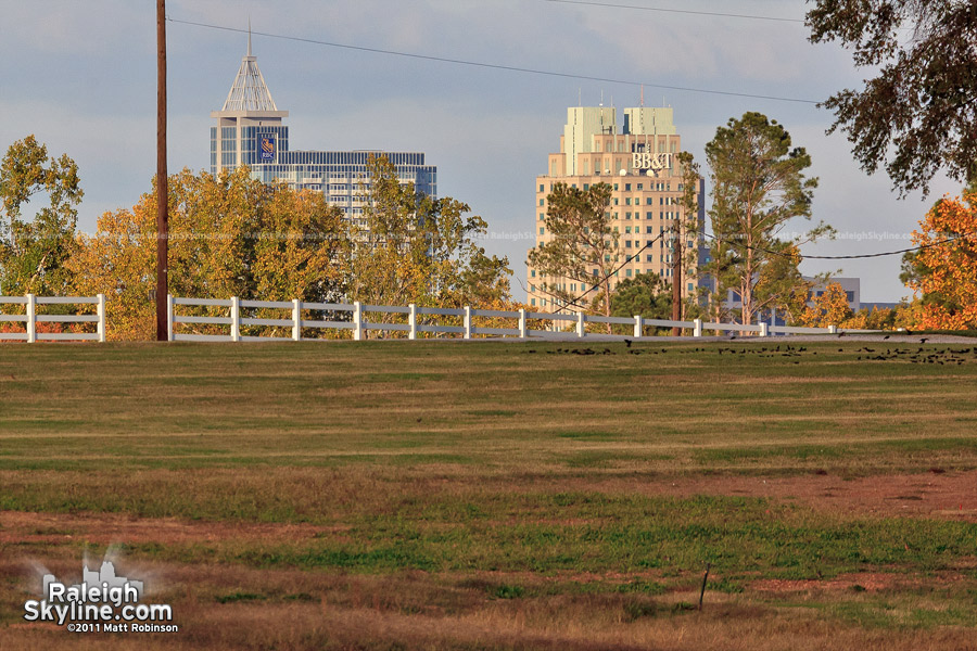 Downtown Raleigh from NCSU Lake Wheeler Road Field Laboratory
