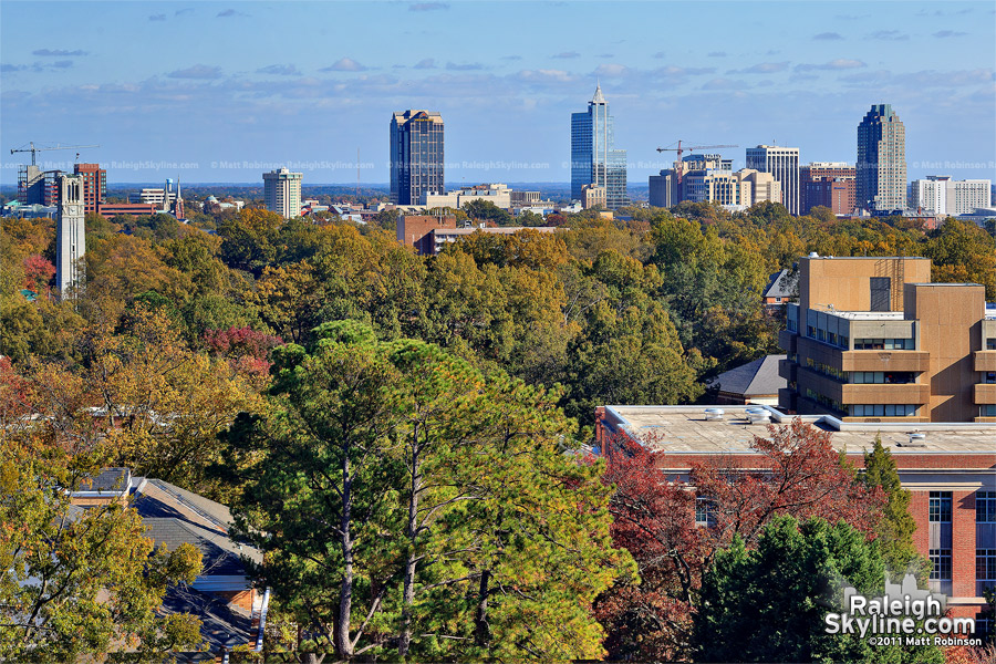 Autumn view from D.H. Hill Library