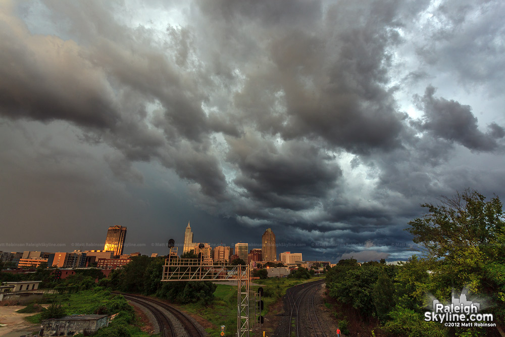 Storm clouds roll through Raleigh