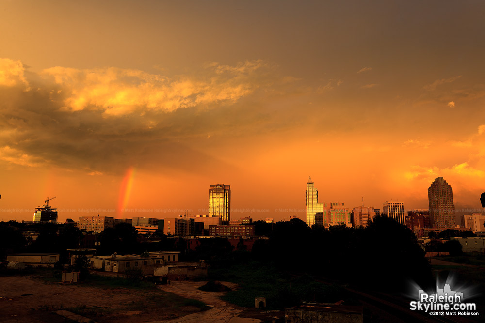 Raleigh Sunset and Rainbow of August 8, 2012