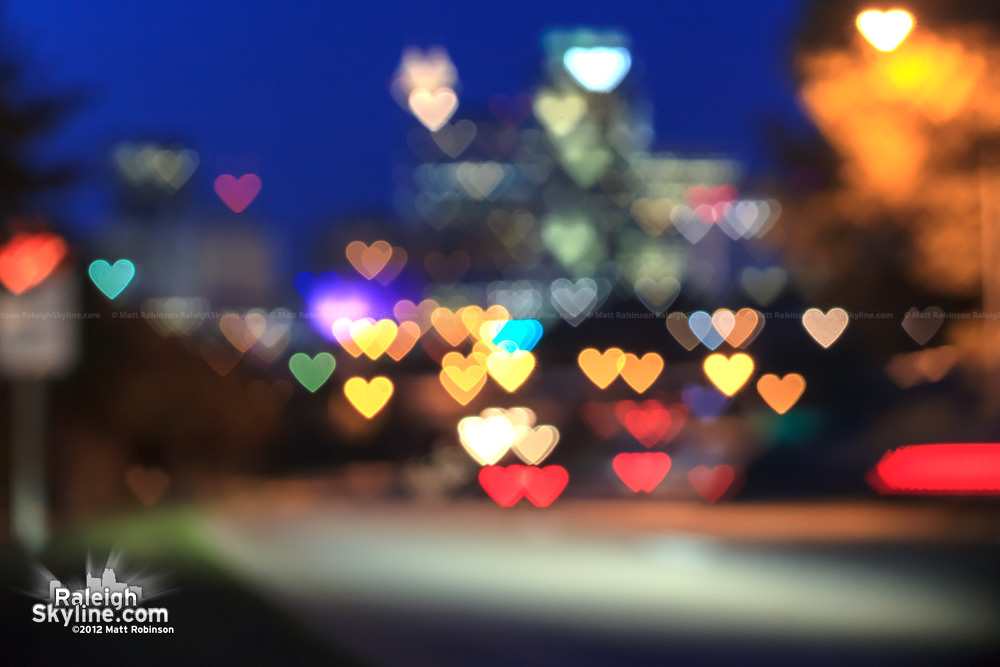 Raleigh heart bokeh