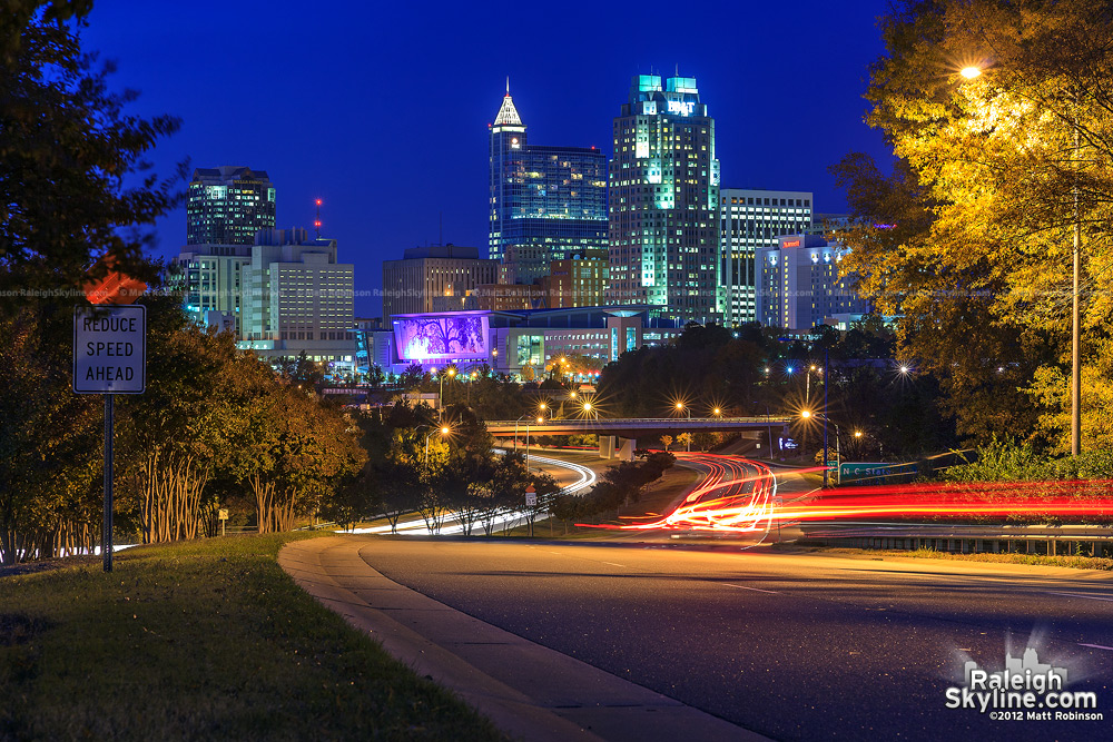 Downtown Raleigh Skyline at night - 2012