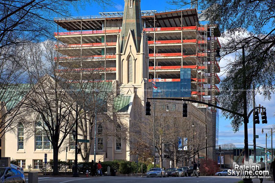 NC SECU Headquarters from Salisbury Street