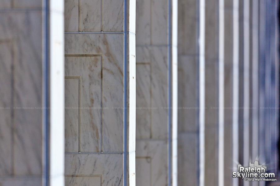 Marble columns on the North Carolina State Legislative Building