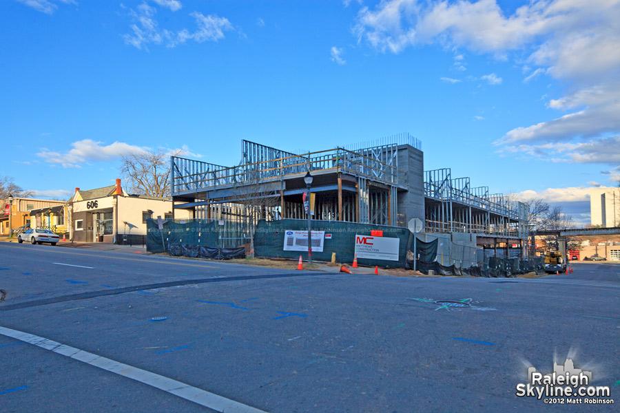 Progress on the new Hampton Inn Hotel in Glenwood South