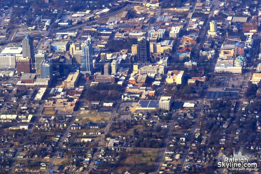 Downtown Raleigh Aerial