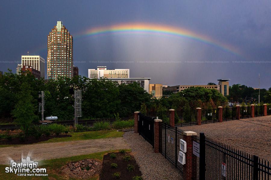 Rainbow over Raleigh, North Carolina