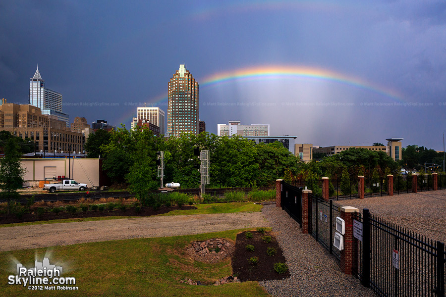 Rainbow over the Raleigh Skyline