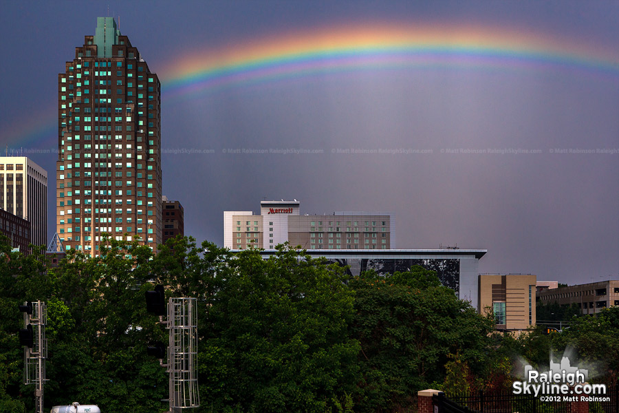 Rainbow with the BB&T Building